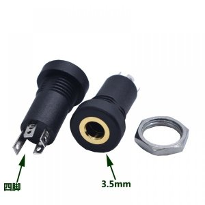 PJ-392A 3.5MM 오디오 비디오 스테레오 헤드폰 소켓
