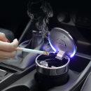차량용 대용량 LED 재떨이 재털이 냄새차단 휴지통 B07