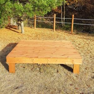 6자 가격 야외 마루 평상 방부목 원목 정원 나무 침대