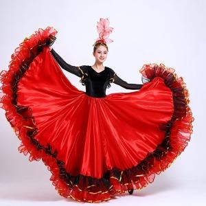댄스복 대형 개막춤 풀스커트 촬영복 성인 여자빅사