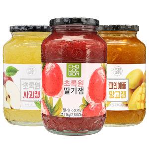 딸기잼 1kg+1kg(2kg) / 유기농 딸기잼 580g (딸기쨈)