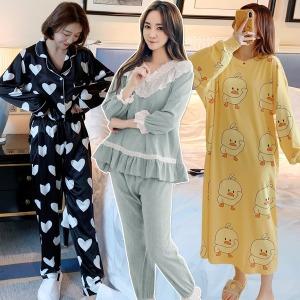 봄 여성잠옷 모음/파자마세트/원피스 홈웨어/여자잠옷