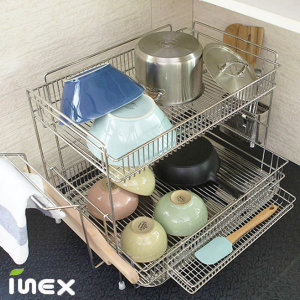 일체형 2단 올스텐 대형 식기건조대 설거지건조대