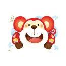 환타 유치원 바닥꾸미기 야광 데코스티커 원숭이