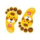 환타 바닥꾸미기 야광 발바닥스티커(5쌍) 동물2호랑이