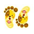 환타 바닥꾸미기 야광 발바닥스티커(5쌍) 동물강아지
