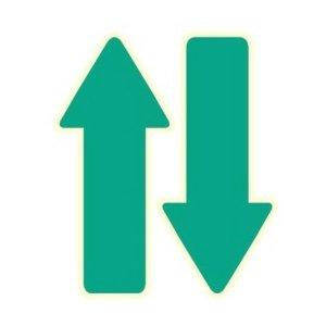 환타 바닥꾸미기 야광 화살표스티커(5매) 초록