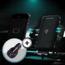 차량용 휴대폰 무선충전 거치대 TZ-C100S+퀵차지시거잭