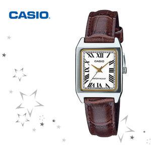 카시오 LTP-V007L-7B2 여성 패션 가죽 시계