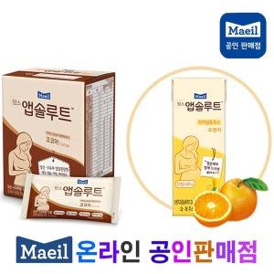 맘스 앱솔루트 코코아3팩/식이섬유주스 오렌지24팩