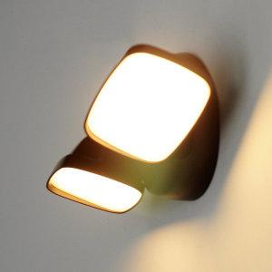 나스필 LED 벽등 듀얼헤드 25W 다크브라운 / 벽부등