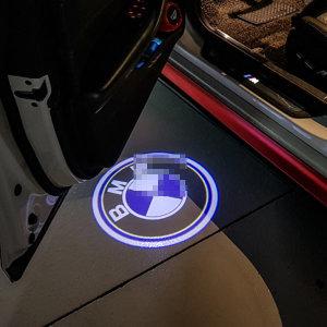 BMW 원형 로고 도어라이트 도어등 웰컴라이트