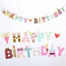 (지호) 생일축하 종이가랜드 _ 도형촛불