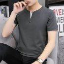 남자 기본 반팔 티셔츠 루즈핏 브이넥 빅사이즈 iv11
