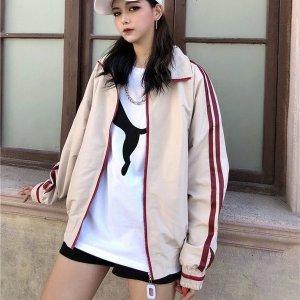 여자 루즈핏 항공 점퍼 자켓 봄 아우터 캐주얼 iv79