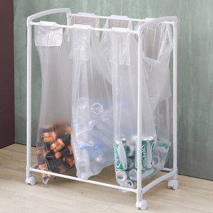 원터치 이동식 쓰레기 분리수거함 (비닐50매포함)
