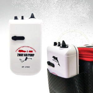 에어펌프 휴대용 낚시 기포기 2단에어 차량겸용