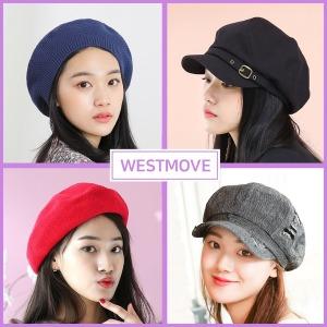 베레모 헌팅캡 빵 니트 팔각모 여성 봄 여름 모자