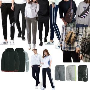 3+1남녀트레이닝/슬랙스팬츠/상하세트/보조가방