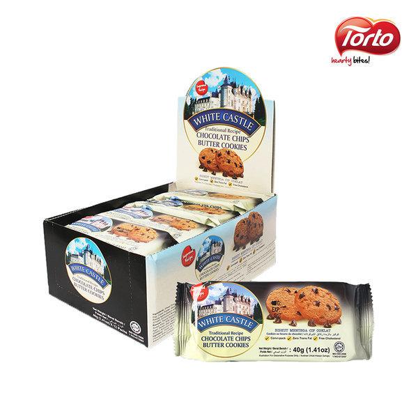 화이트캐슬 초코칩 버터쿠키 40g 12개입