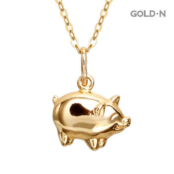 14K 황금 복 돼지 小 목걸이