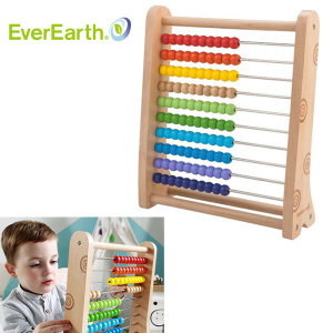 에버어쓰(EverEarth) 수셈판 수세기구슬 원목학습완구