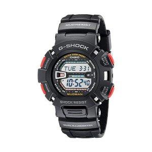 Casio GShock Quartz Watch with Resin Strap Black M