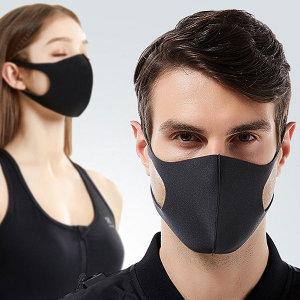 3D 입체 패션 마스크 (1매) 연예인 블랙 폴리우레탄