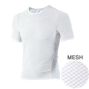 MCN K매쉬 반팔 티셔츠 화이트 /스포츠이너웨어