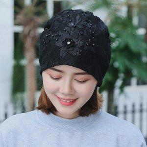 연꽃 항암 비니 암환자 두건 수술 선물 모자 여름