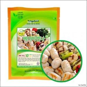비건 식품 채식 냉동 베지 비엔나 250g 무오신채