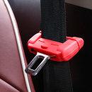 코코아이티 차량용 안전벨트 클립커버 레드 2p