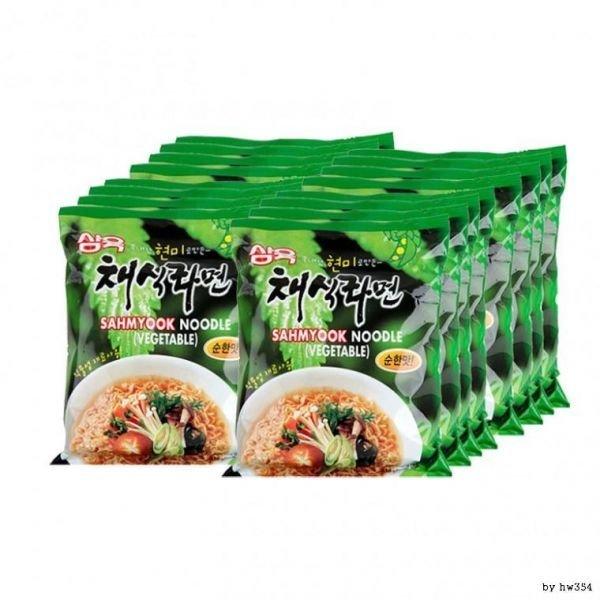 비건 식품 삼육 채식 라면 순한맛 110g x 16봉 1박스