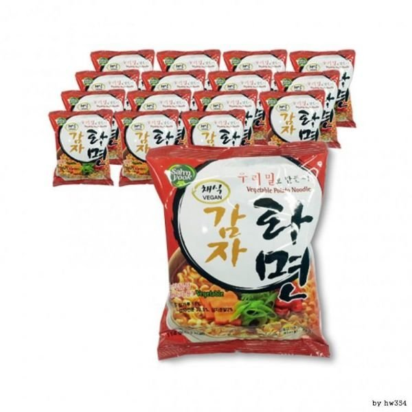 비건 식품 삼육 우리밀채식감자라면(얼큰)16봉(1박스)