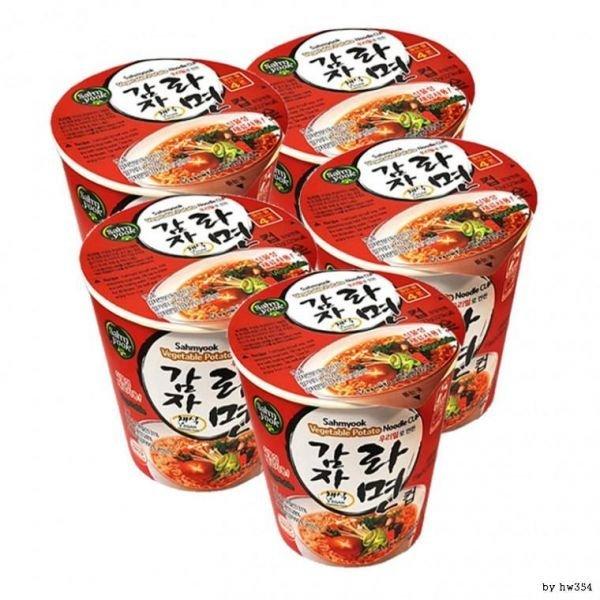 비건 식품 베지테리언 우리밀 감자라면컵 73g x 5개