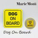 강아지 현관 문 자석 벨금지 스티커 : DOG ON BOARD