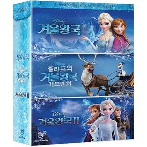 겨울왕국 3-Movie Collection (3disc) - 초도한정 올라프 미니 등신대 (4월3일 예정)