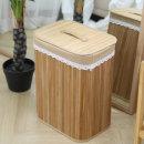 대나무 세탁바구니 (원목 빨래바구니수납바구니)
