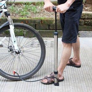 스텐 에어퀵 자전거 펌프 공바람넣기 휴대용자전거펌