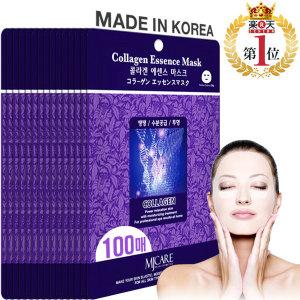 엠제이케어 콜라겐 마스크팩100매 피부탄력 투명 보습