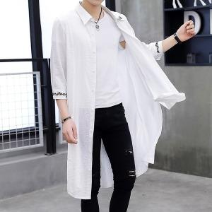 남자트렌치코트 2019여름시즌 뉴타입 5부소매 얇은타