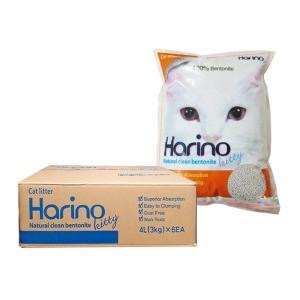 하리노 키티 4L x6개 고양이모래 박스포장