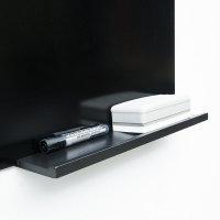 럭시 유리칠판받침대 메탈 블랙 1000mm