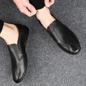 남자 블로퍼 가죽 PU 캐주얼화 슬리퍼 단화 신발 zb90