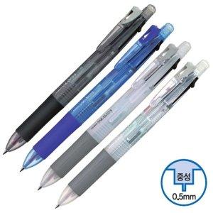 제브라 사라사 중성펜 샤프 3+1 0.5mm 투명 볼펜 디자
