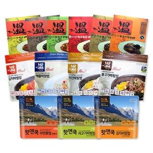 핫앤쿡/더온/발열도시락/발열밥/발열식량/보온밥