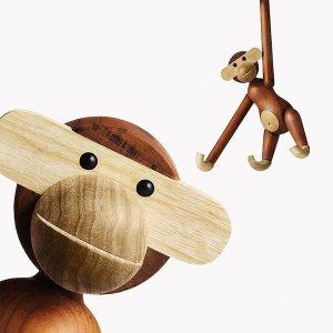 나무 목각인형 카이보예센 장식인형 원목원숭이