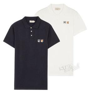 메종키츠네 폴로 더블 폭스 티셔츠 BU00200KJ7002