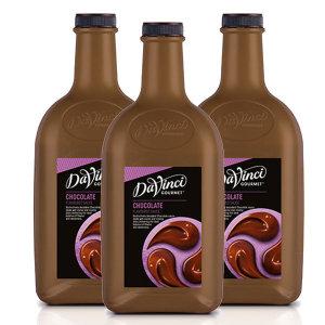 다빈치 초콜렛소스 2.6kg 1박스 3개 초코 초콜릿