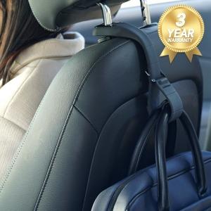 자동차 실리콘 가방걸이 차량용 후크 차량 용품 블랙